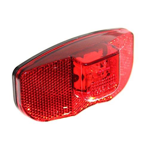 Old-Harvest 1 Fahrrad LED Rücklicht ROT mit Reflektor & Standlicht Rückleuchte Beleuchtung Fahrradlampe Neu