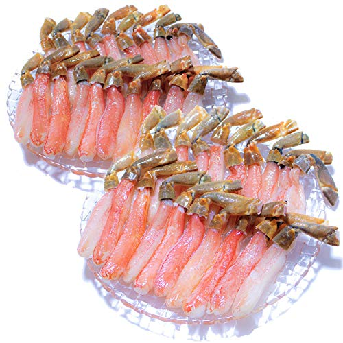 黒帯 ギフトセット 生ズワイガニ 脚 特大 生 ずわい蟹 足 棒肉 ポーション かに むき身 良品選別済 (2kg お届け日時指定)