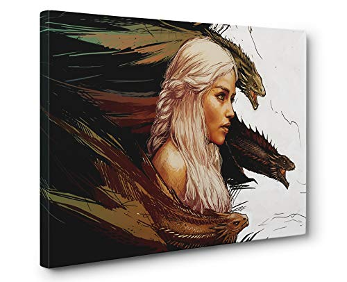 Game of Thrones Daenerys Gallery Canvas Wall Art Print (Ready to Hang) (12x18in.)