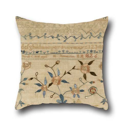 KENETOINA Oil Painting Sarah C. Neal, American - Sampler Throw Pillow Covers,Best For Car,GF,Play Room,Dinning Room,Husband,Outdoor 16 X 16 Inches / 40 by 40 Cm(Double Sides)