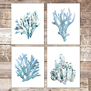 Beach Wall Decor Art Prints (Set of 4) – Unf...