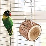Zouminyy 【𝐍𝐞𝒘 𝐘𝐞𝐚𝐫 𝐃𝐞𝐚𝐥𝐬】 Altalena Giocattolo, Grotta pensile per Uccelli in Legno Naturale, per Grotta per Uccelli