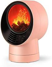 YLJYJ Estufa eléctrica para Estufa, Chimenea led con Efecto de Llama Realista, 3 configuraciones de Calor, Calentador Interior para Montar en la Pared (chimeneas eléctricas)