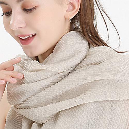 HSTZSY sjaal vrouwen katoen winter nep bont sjaal Hijab wrap print solide kleur sjaal kraag hoofdband Hijabs sjaal imitatiebont