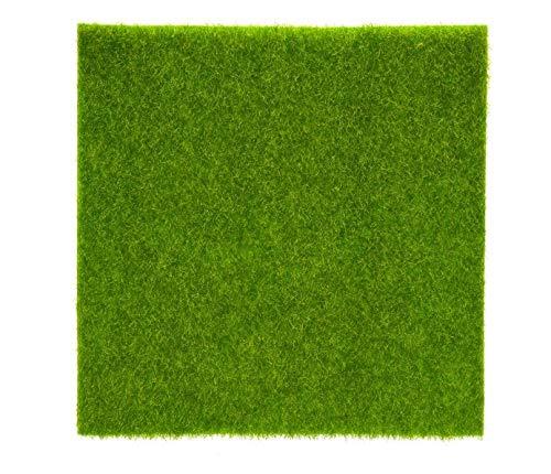KSTE Kunstrasen, Kunstrasen Rasen Gras Pflanzen for Miniatur-Puppenhaus Landschaftsbau Dekoration (30 x 30cm)
