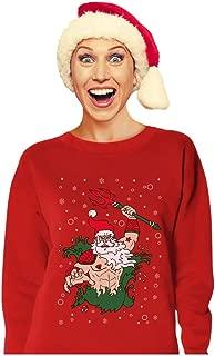 Poseidon Santa Christmas Ugly Sweater Neptune Aqua Ocean Women Sweatshirt