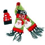 Cubiertas para Botellas de Vino Navideñas con Forma de Bufanda Y Sombrero de Punto - Pick - Papá Noel, Individual
