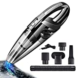 smart-hormarket Handheld Vacuum, Hand Vacuum Cleaner High Power Cordless, Portable Vacuum Cleaner Powered by Li-ion Battery Rechargeable, Mini Vacuum Cleaner with Wet Or Dry for Home and Car Cleaning