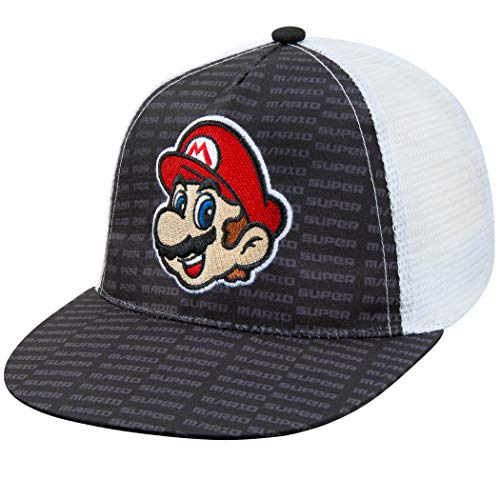 Nintendo Boys Super Mario Baseball Cap - Age 4-7 Black