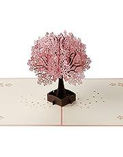 グリーティングカード ポップアップ メッセージカード 3D 立体的 桜咲く可愛い手紙 贈り物 プレゼント 桜祭り クリスマス 誕生日 結婚祝い バレンタインデー 封筒付き