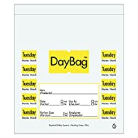 DayMark Day of The Week Trilingual Portion Bag、5.5インチ x 5.5インチ (2000個パック) IT113014 2000