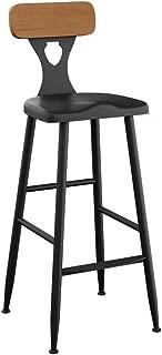 NMDB Tabourets Bar retro  chaises tabourets Dossier Bois comme tabourets Cuisine  Bars  Chaise creative pour tabourets Petit dejeuner  Taille 75cm