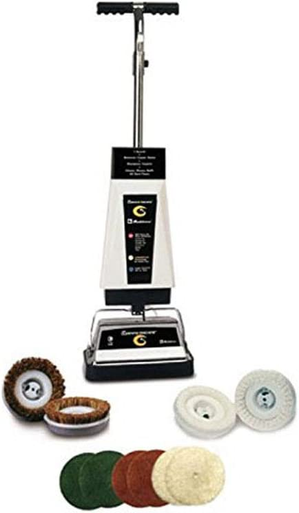 Koblenz Max 43% OFF Carpet In a popularity Shampooer and Floor with Bla Pads Polisher White