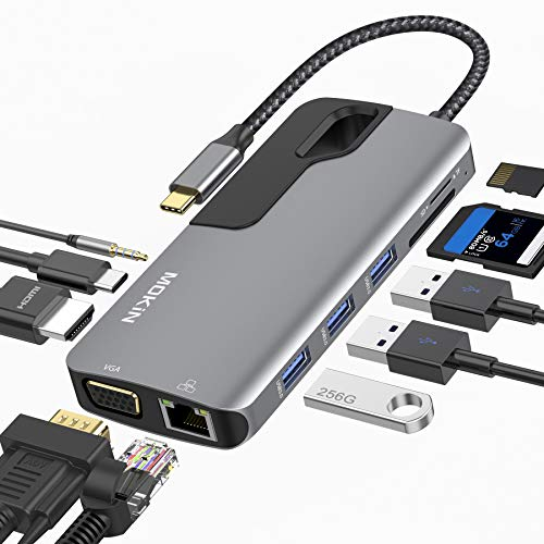 USB C Hub Adapter for MacBook Pro, Thunderbolt 3...