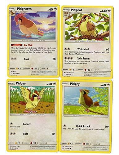 Sun Moon Team Up - Evolution Set - Pidgeot 124/181 - Pidgeotto 123/181 - Pidgey - Rare Card Lot