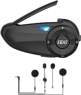 رابط بلوتوث موتور سیکلت با رادیو FM ، EJEAS Q7 5.0 هدست بلوتوث بلوتوث هدست بلوتوث ارتباط با لغو صدا تا 7 سوار با لغو صدا ، FM ، ضد آب