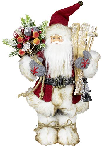 Christmas Paradise - Figura de Papá Noel (30 cm), color rojo
