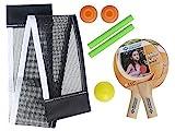 Donic-Schildkröt Kinder Mini Tischtennisschläger-set, schwarz/weiß, One Size -