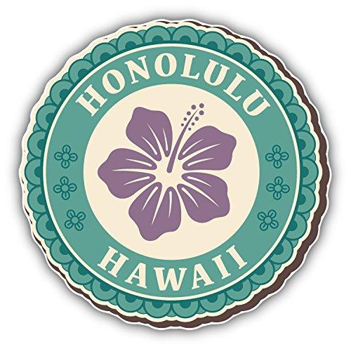 postwalldecor Honolulu Hawaii Vintage Label Hochwertigen Auto-Autoaufkleber 12 x 12 cm