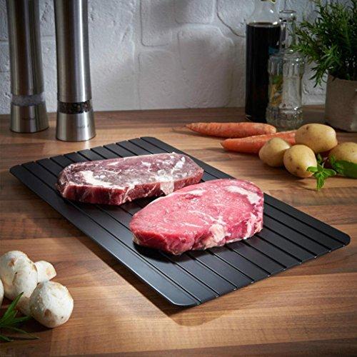 Fuibo Heiße schnelle Auftau Tablett | Hot Fast Defrost Tray Kitchen Der sicherste Weg zum Auftauen von Fleisch oder Tiefkühlkost | Auftauplatte Kein Strom, keine Chemie, keine Mikrowelle