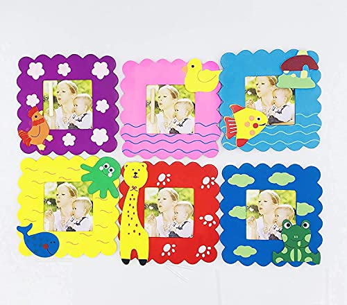 new creations-(pack of 20) wooden photo frame for kids / birthday return gifts / animal theme-Multi color
