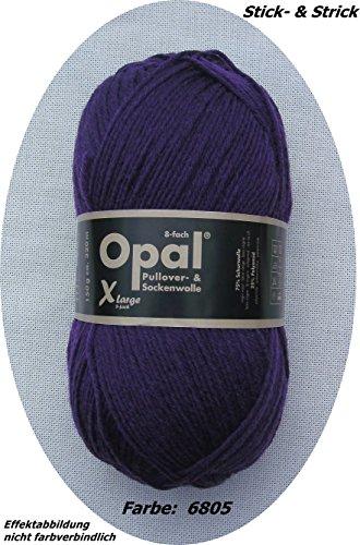 150 gr. Opal Uni Farbe 6805 violett, 8-fach, Brandneu, Sockenwolle, Strumpfwolle