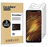 ivoler [3 Stücke] Panzerglas Schutzfolie für Xiaomi Pocophone F1, 9H Festigkeit, Anti- Kratzer, Bläschenfrei, [2.5D R&e Kante]