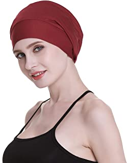 7cf9a29d280 FocusCare Satin Lined Sleep Slouchy Cap Curly Girl Slap Headwear Gifts for  Frizzy Hair Women