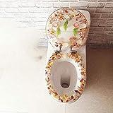 SHOP YJX Sedile WC di Alta qualità Forma del Sedile del Water Stampato Sedile del Water 40-48 Cm X 33-38 Cm Copriwater E Copri Serbatoio per WC
