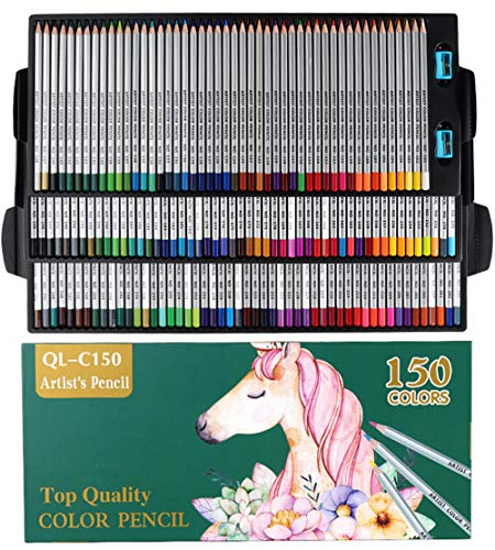 150 Farben Buntstifte Set- 150 einzigartige Helle und deutliche Farben und bereits angespitzte bunte Stifte-Ideales Set Geschenk für Künstler, Kinder Malen, Ausmalen, Skizzieren oder Kolorieren