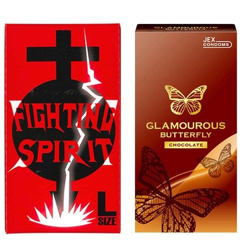 グラマラスバタフライ チョコレート 6個入 + FIGHTING SPIRIT (ファイティングスピリット) コンドーム Lサイズ 12個入