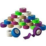 Vendajes adhesivos cohesivos MEDca de 1 pulgada X 5 Yardas (Colores del arcoiris) EMPAQUE ...