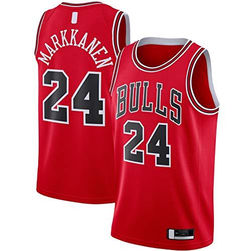 YUEJI Rojo -2020/21 Swingman Jersey Markkanen Baloncesto Jersey Chicago Sudadera Bulls Hombre Al Aire Libre #24 Chicago Icono EditionLauri Icon Edition-XL