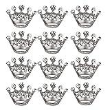 MILISTEN 12 Piezas Broche de Diamantes de Imitación Corona Tiara Broche de Metal Pin Ropa Punk...