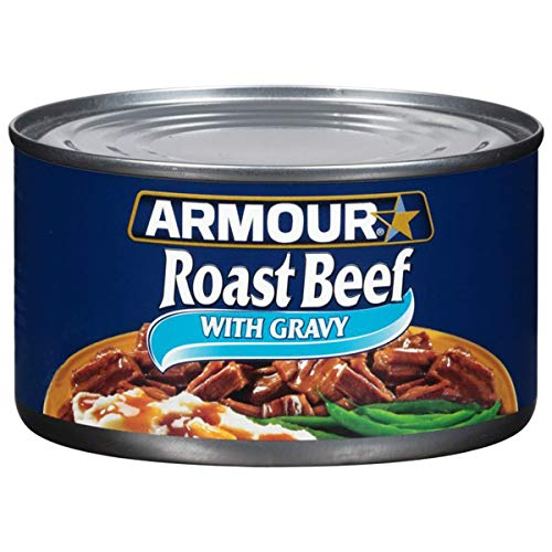 Armour Star Roast Beef With Gravy, Canned Meat, 12 OZ (Pack of 24)