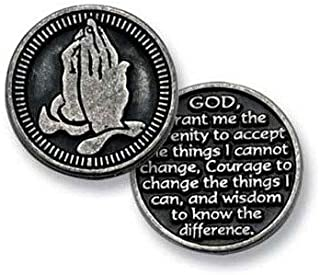 Three (3) Pewter POCKET Tokens SERENITY PRAYER - GOD Grant Me The SERENITY to Accept... - 1