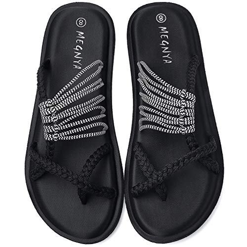 Yoga Mat Flip Flops for Women, Comfortable Foam Sandals for Walking, Flexible and Lightweight Slippers for Beach/Holiday/Poolside/Outdoor Activities 19ZDME05-W77-8