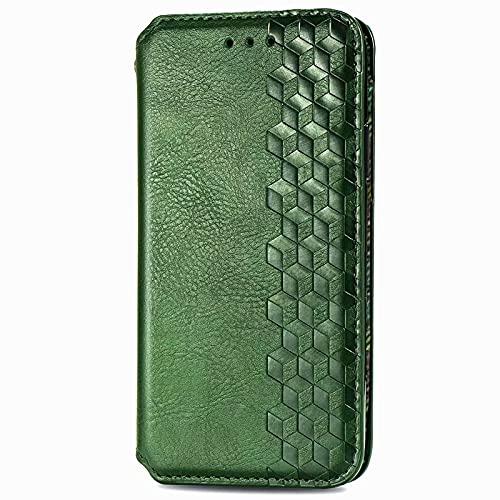 LORMI OPPO Find X3/Pro - Funda tipo cartera con tapa de poliuretano premium con soporte para tarjetas y soporte magnético y función atril y estilo libro para OPPO Find X3/Pro, color verde