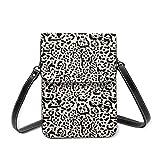 Bolsa de hombro pequeña con estampado de Jaguar Greige, bolsa cruzada para teléfono móvil, monedero ligero, bolso cruzado para mujeres y niñas