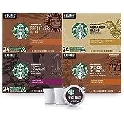 Starbucks Black Coffee K-Cup Coffee Pods — Variety Pack for Keurig Brewers , 24 Count (Pack of 4)