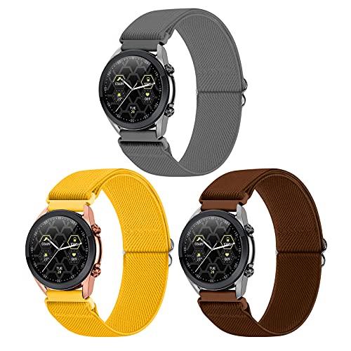 WNIPH Cinturino 22mm Compatibile con Samsung Galaxy Watch 3(45mm/44mm)/Watch 46mm/Gear S3 Classic/Frontier Sportivo Elastica Solo Loop 22mm Watch Band