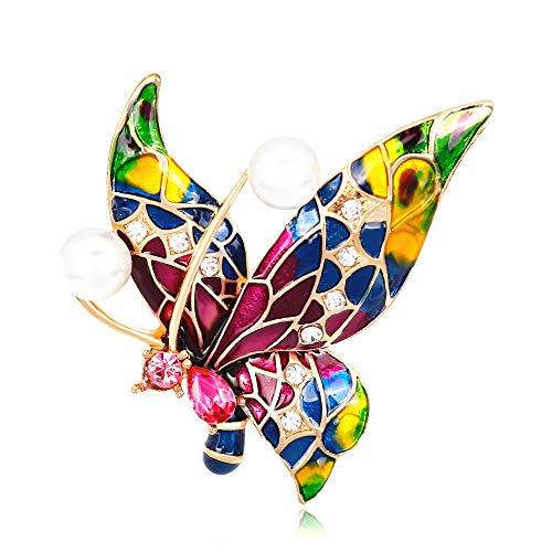 Broche Papillon Mignonne Accessoires de Vetements Broches Alliage en email Cadeaux d'anniversaire Bijoux
