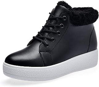 7c484a0491124c Bottes De Neige pour Femmes CoréEnnes Hiver ÉTudiants à Semelles éPaisses à  LaçAge Chaud Chaussures à