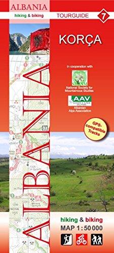 Albania hiking & biking 1:50000: Karte 7: Korca