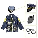 SGJFZD Niños Que Hagan de Vestir Juegos de rol Set de Ropa Profesional Traje 3-6 años de Edad los niños con Accesorios (Color : Police)