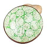 WSKL Cuenco de cáscara de Coco Cuenco de Coco Cuencos de Hielo para Dulces Cuenco de Almacenamiento Hecho a Mano Decoración del hogar Cuencos de Crema Recipiente de Comida Coco