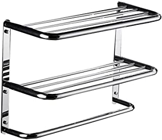 YXZQ Towel Bar, Stainless Steel Bathroom Shelf 3 Tiers Wall Mount (Size : 600mm)