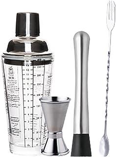 Cocktail Shaker Set مجموعة من 5 قطع شاكر كوكتيل، نادل كيت مع الزجاج كوكتيل شاكر، أدوات باراريج كوكتيل مجموعة Bartender Kit...