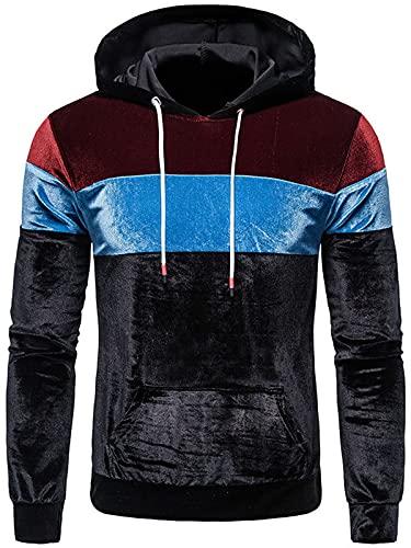 Sudaderas con capucha para hombre de terciopelo unisex para mujer, sudadera de manga larga con capucha y chaquetas con cordón