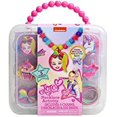 Mix and match to create your own JoJo jewelry with colorful beads, silicone necklaces, and fun character charms! Have fun creating JoJo necklaces for you and your friends Simply design your necklace with the included beads and then add a rubber charm...